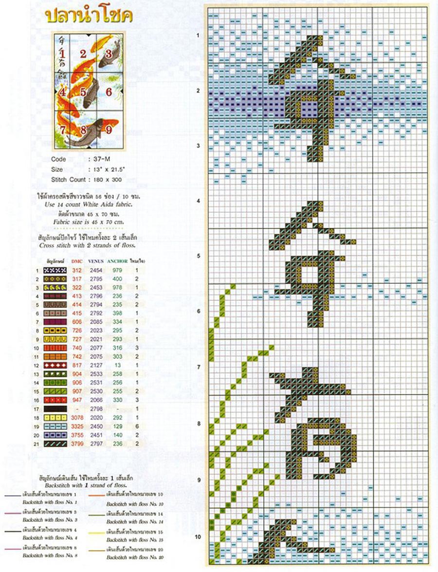 Схема вышивка карпы скачать бесплатно фото 386