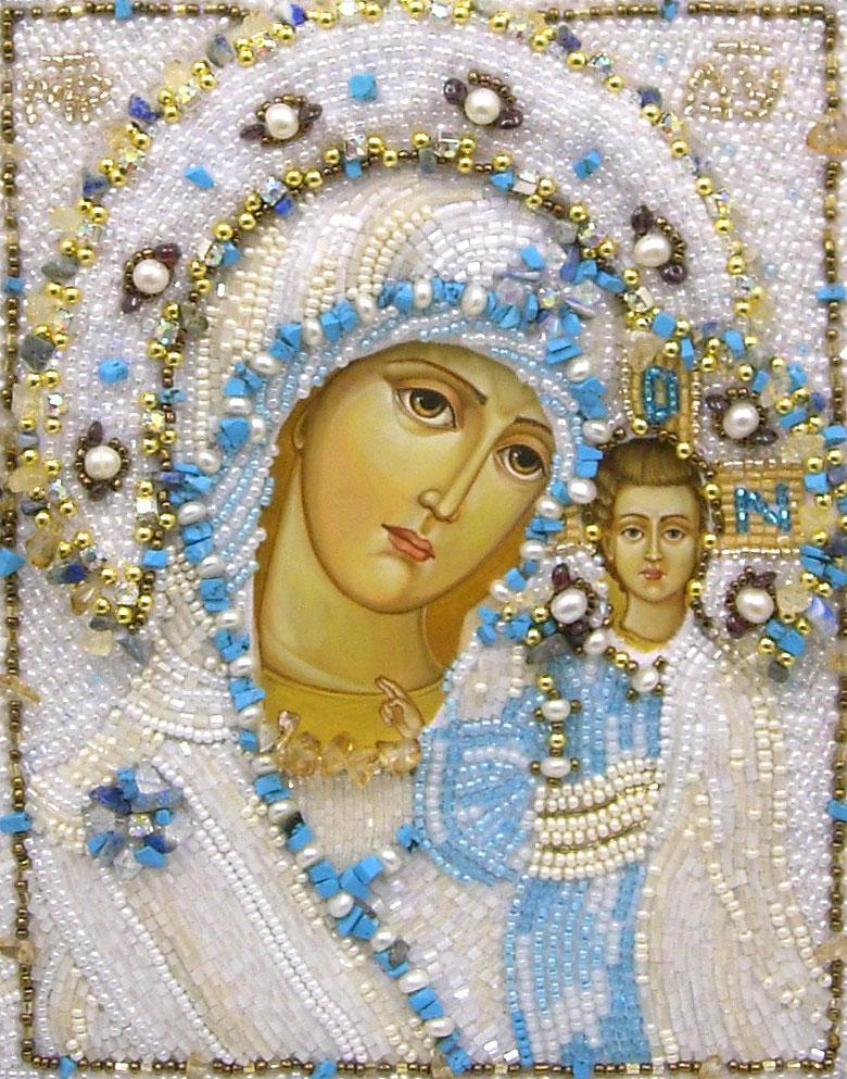 Схема вышивки бисером казанская божья матерь