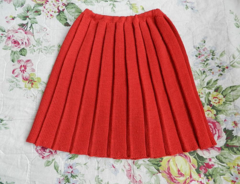 Схема вязания спицами юбки плиссе