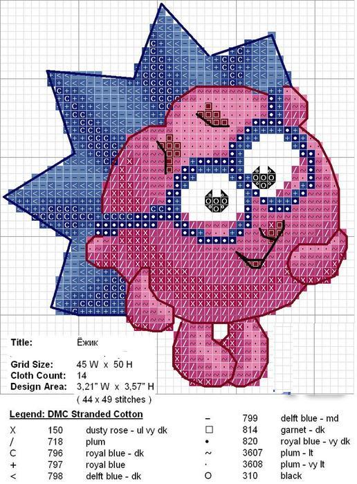 Схема вышивки-смешарики