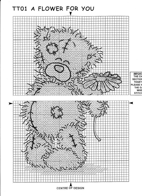 вышивка крестиком схема мишки тедди