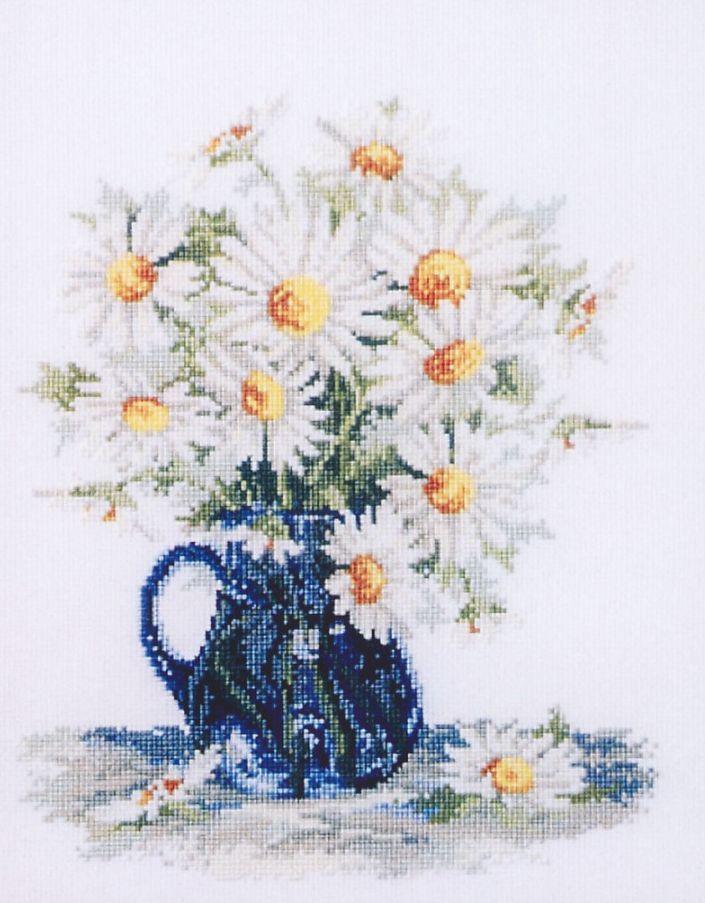 Рисунок для вышивки ромашка