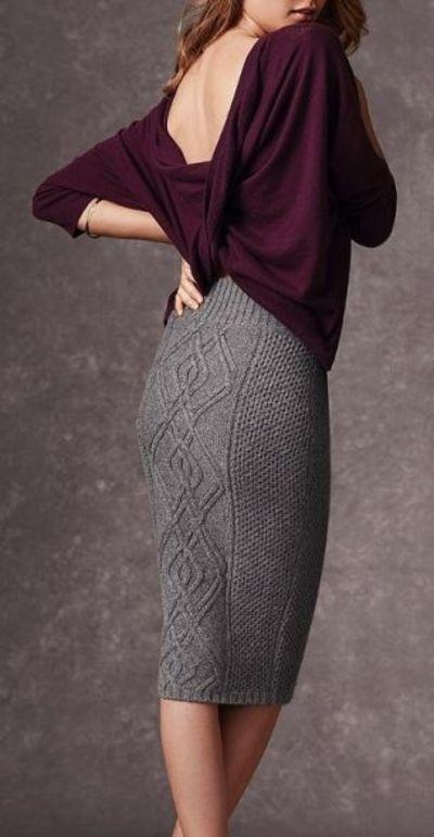 Вязание спицами юбки карандаш схема