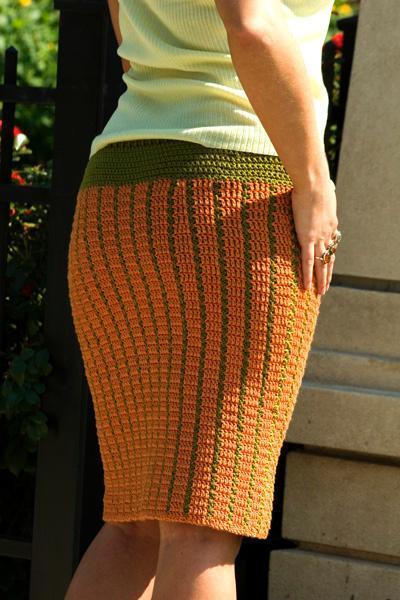 Как вязать юбку прямую спицами