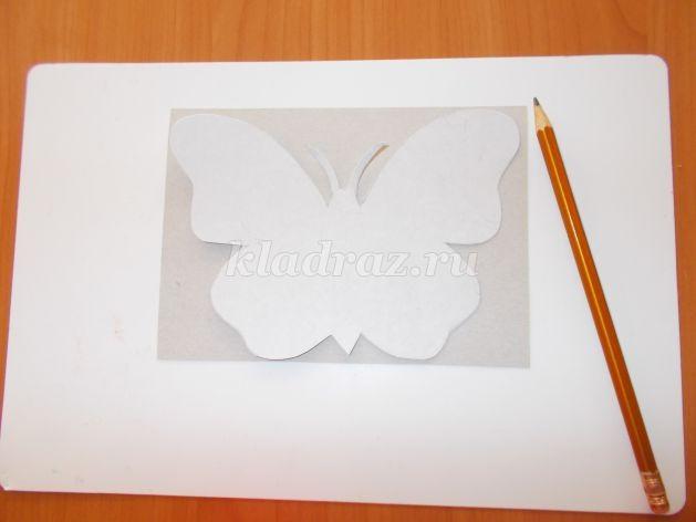 Аппликация бабочка старшая группа