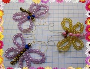 Схема плетения бабочек из бисера для начинающих