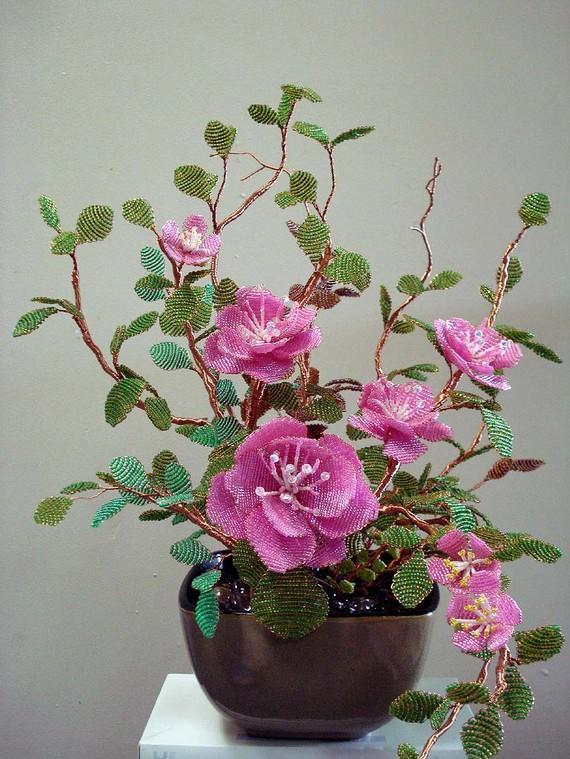 Цветы из бисера мастер классы, схемы и пошаговые 42