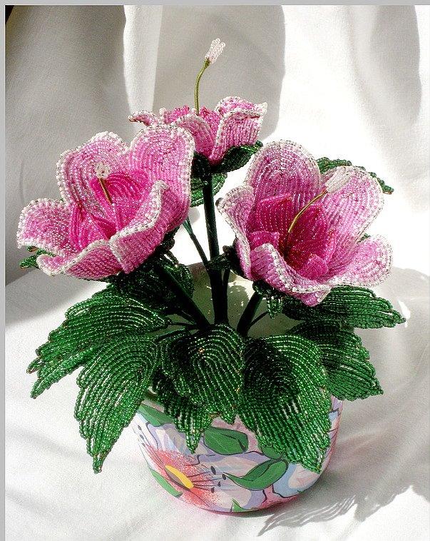 Изделия из бисера деревья цветы 140