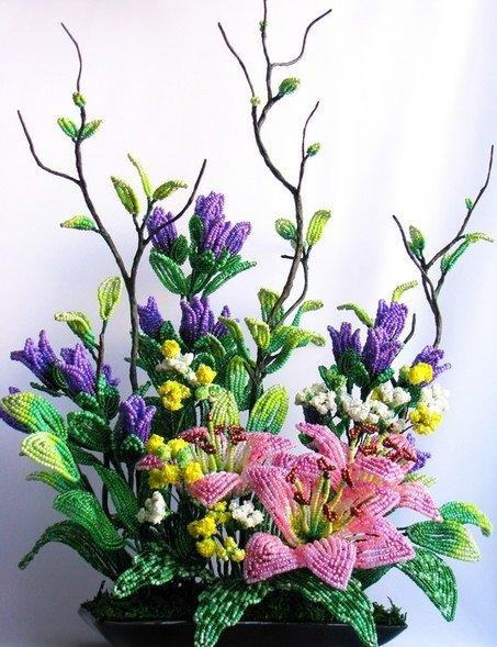 biseropletenye_cvetov_5 Как сделать цветы из бисера своими руками: фото, схемы и видео