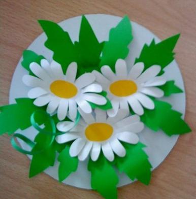 Схемы аппликаций цветок