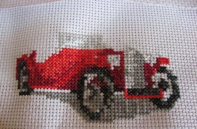 Вышивка крестом красными нитками #можно завязывать красную 36