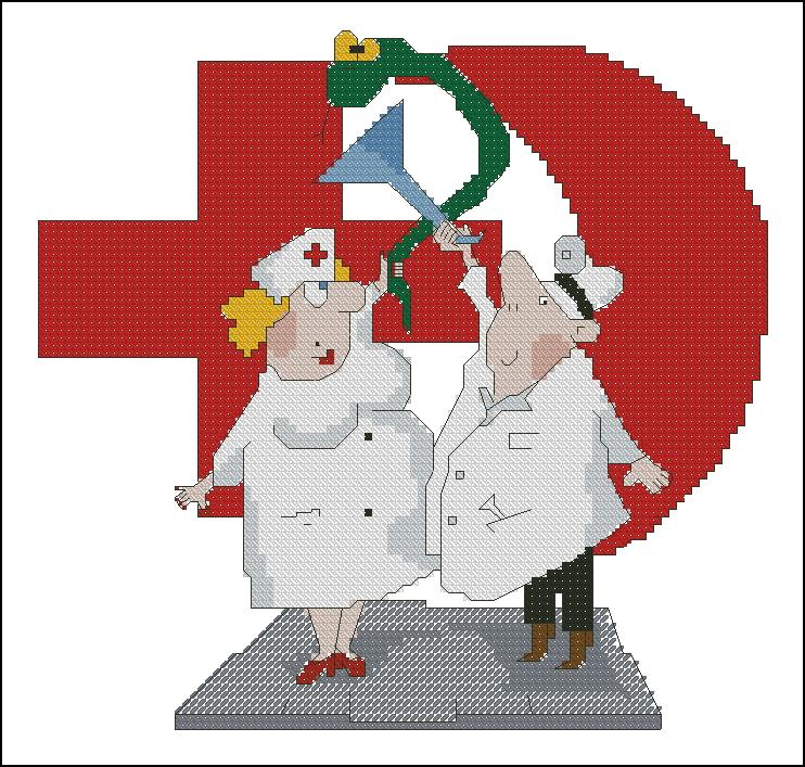 Вышивка крестом медицинская