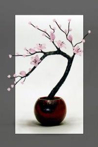 Веточка сакуры из бисера