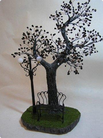 Декор деревьев из бисера
