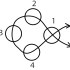 Схема плетния фенечки из 4-х бисеринок