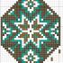 Схема плетения широкой части гердана из бисера