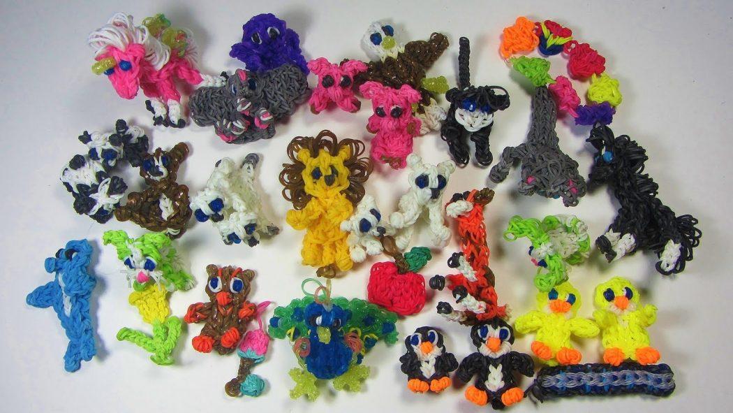 Картинки животных из резиночек