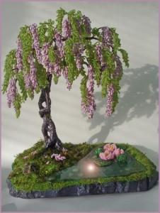Мастер-класс по изготовлению дерева глицинии из бисера