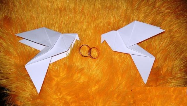 Голубь оригами пошаговая инструкция сборки
