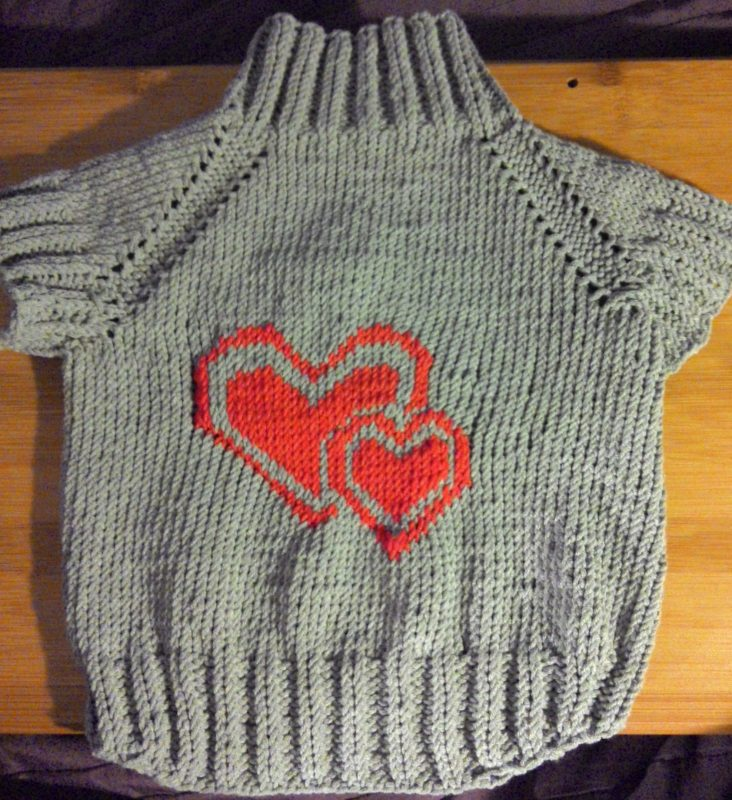 Вязание собачкам свитера на спицах 548