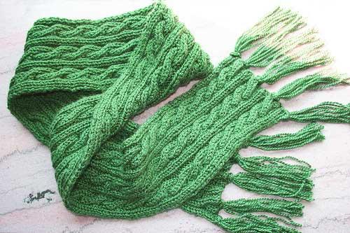 как закончить вязание шарфа спицами разными способами