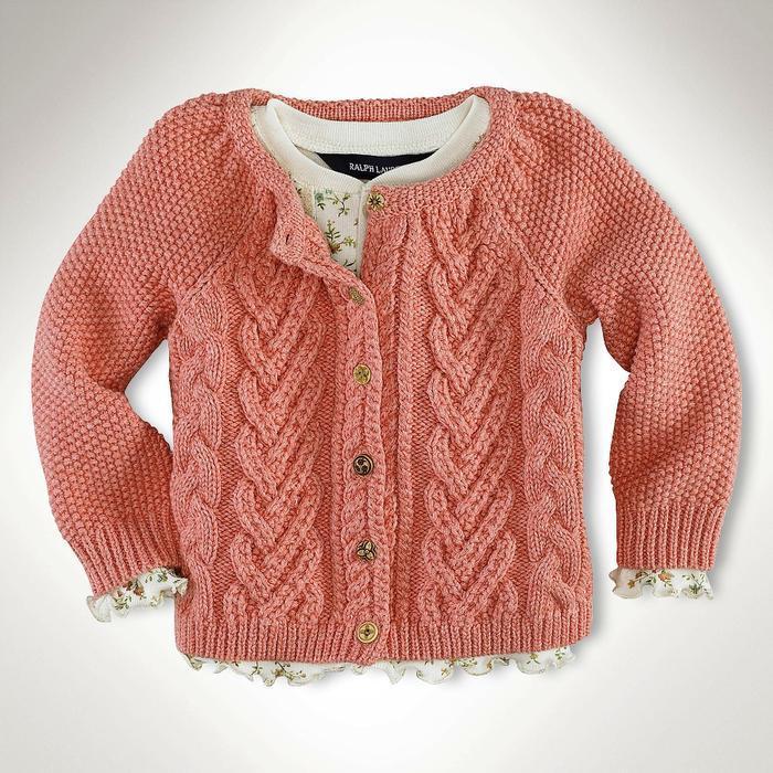 Вязание кофт для девочки мастер класс 18