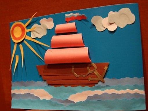 Картинка с корабликом для детей