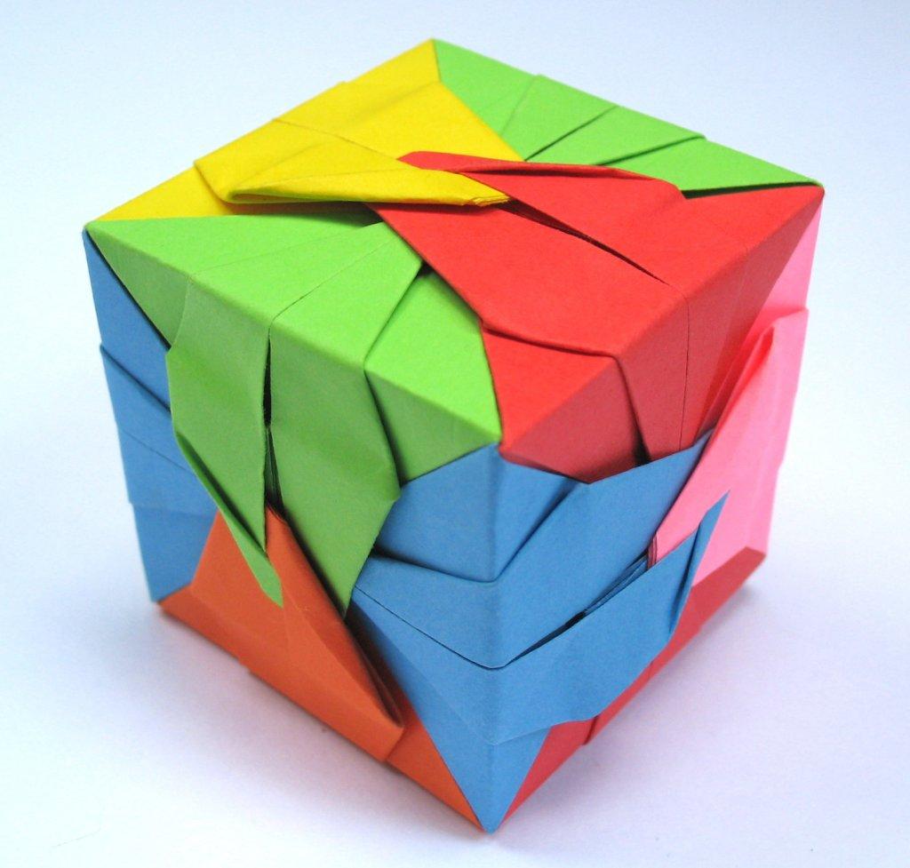 подвижные кубы оригaми из модулей сонобе схема