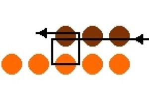 Схема обшивки лариата из бисера