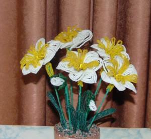 Нарцисс из бисера