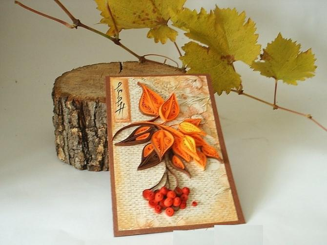 Открытки осень своими руками