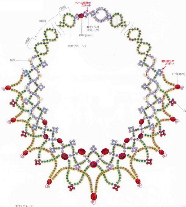 Ожерелье бисером схема