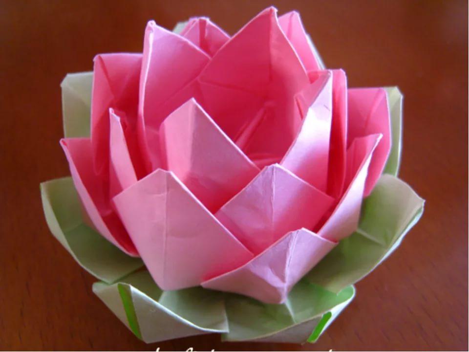Как сделать из салфетки цветок лотоса