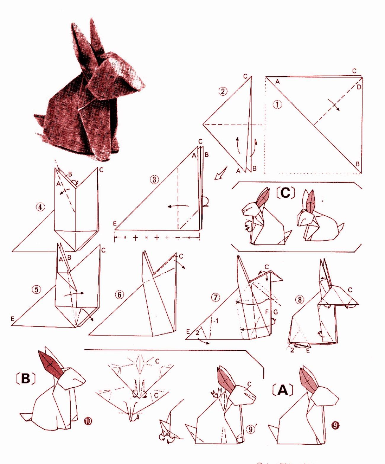 схема сборки яйцо из оригами