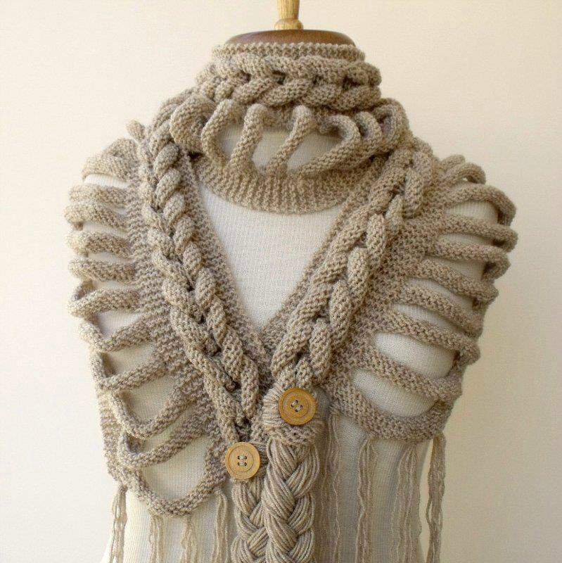 Связать оригинальный шарфы своими руками
