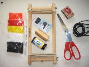 Материалы и инструменты для пояса из бисера