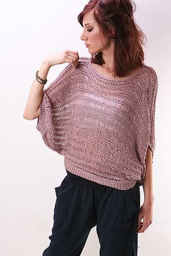 пуловер летучая мышь вязание спицами по схеме с описанием