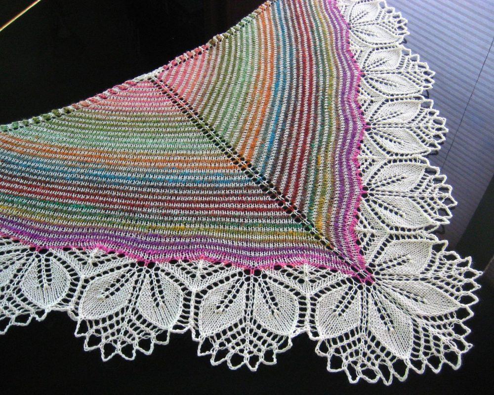 шаль спицами фото схема вязания