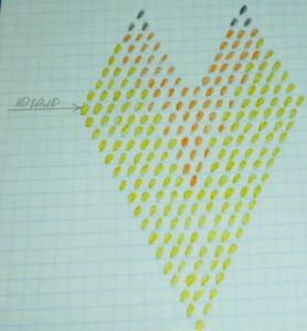 Схема кирпичного плетения лилии из бисера
