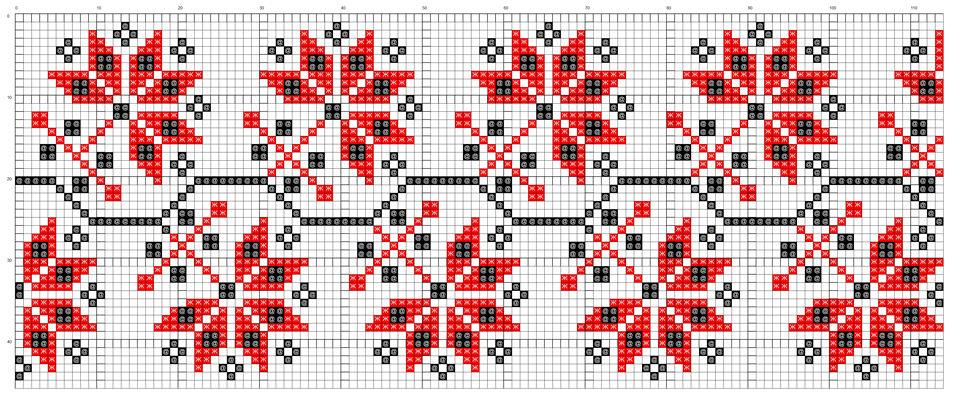 Схема ветки для вышивки 220