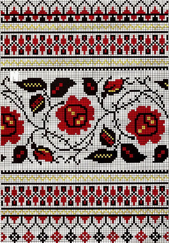 Вышивки крестом для свадебных полотенец