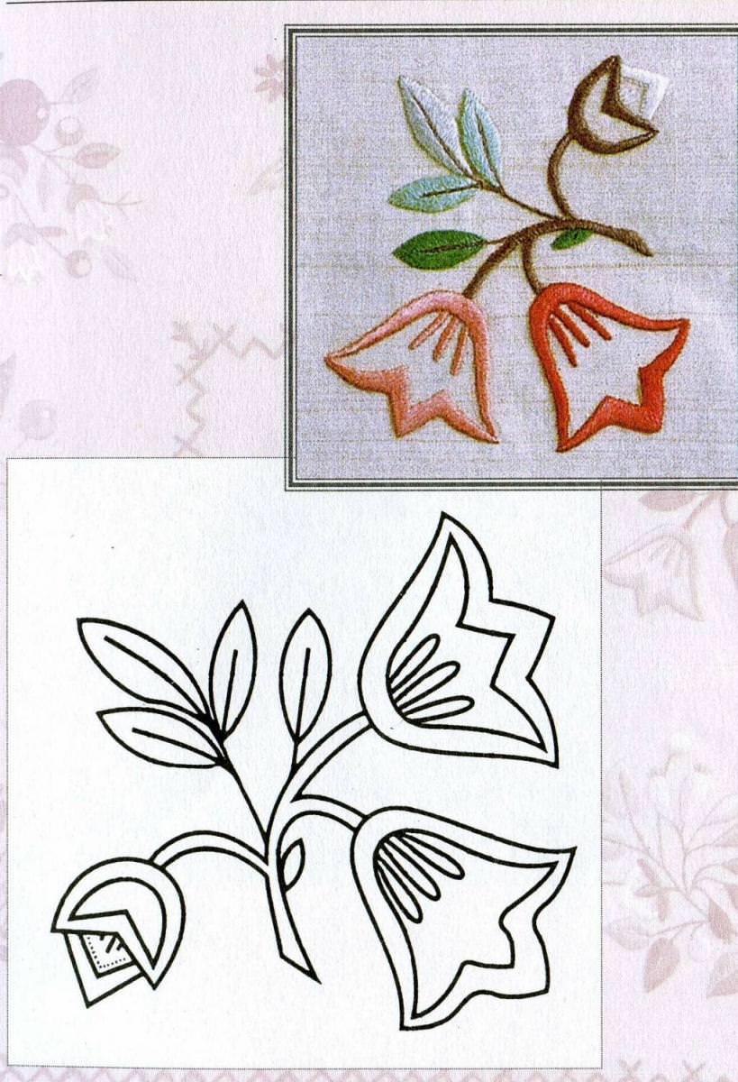 Лёгкий рисунок для вышивки гладью