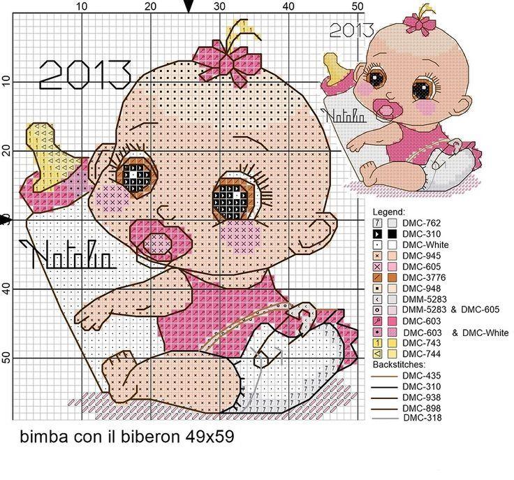 Схемы вышивок крестиком на рождение детей