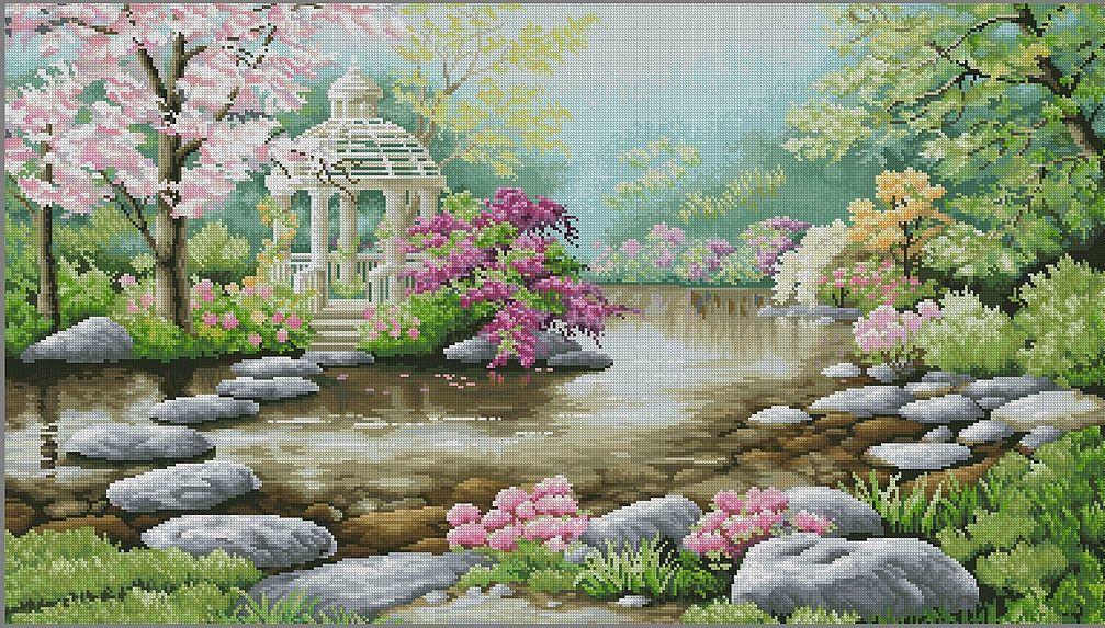 Вышивка бисером большие картины природа