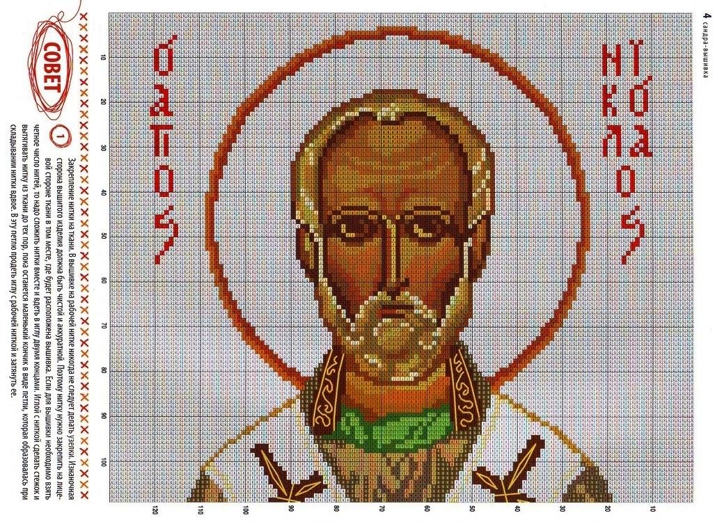 Маленькая схема вышивки крестом икон