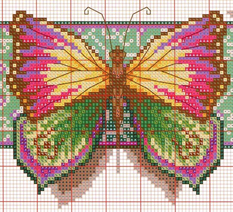 схема для картина бабочки