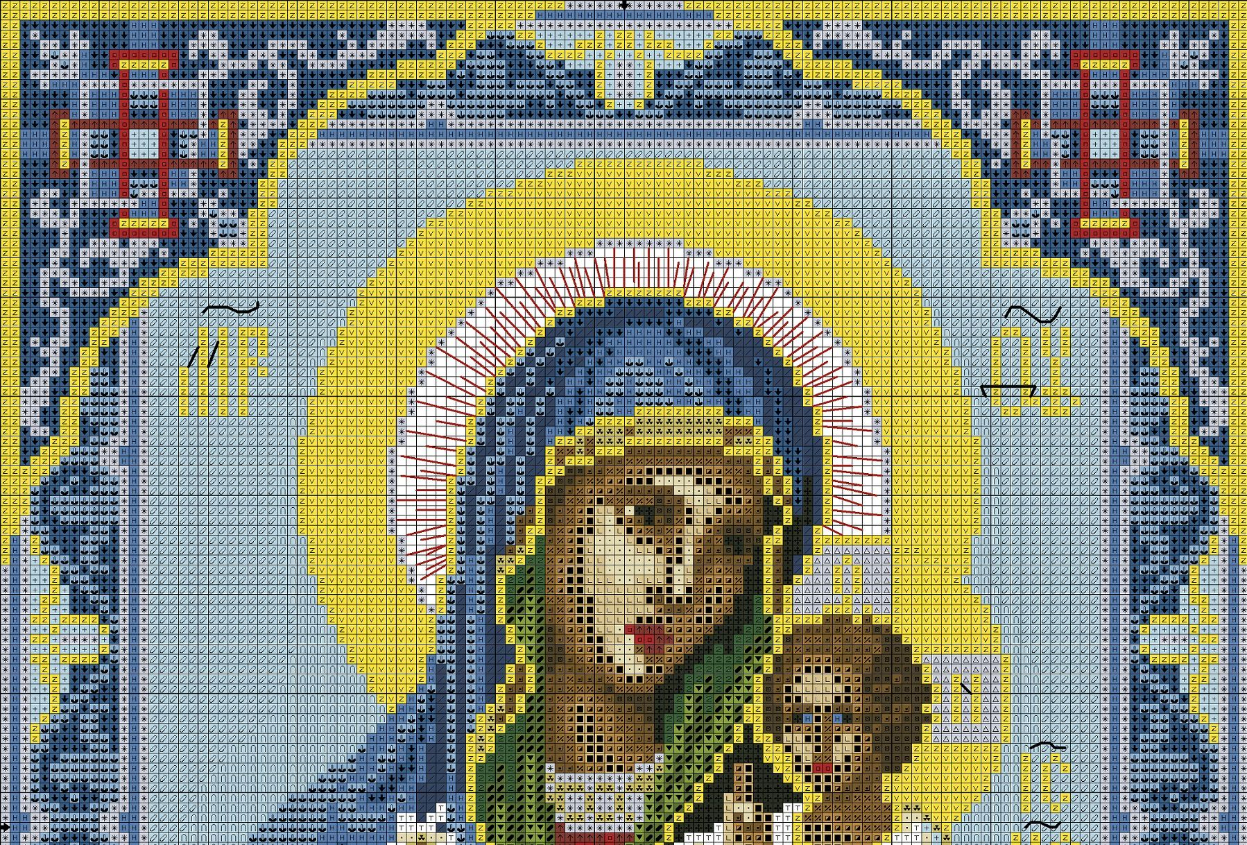 Схема вышивок иконы крестиком - Схемы вышивки икона ...: http://baltica-ltd.ru/shema-vyshivok-ikony-krestikom/