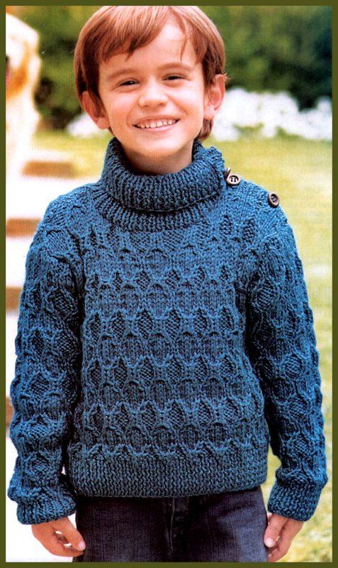 Схема вышивка на свитер для мальчика