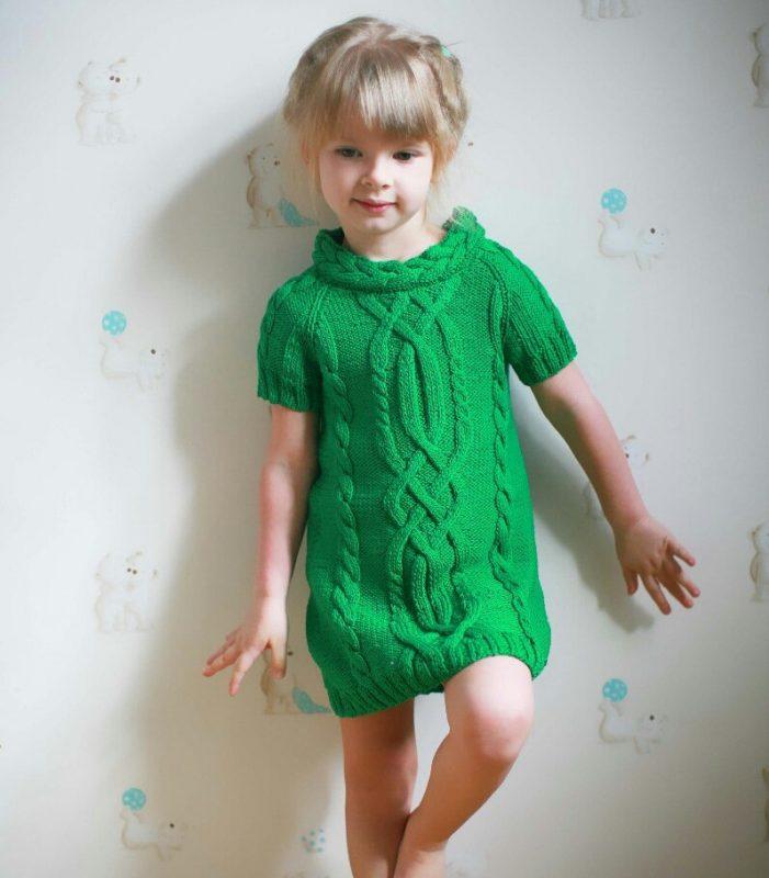 Вязание платья и туники для девочек 780
