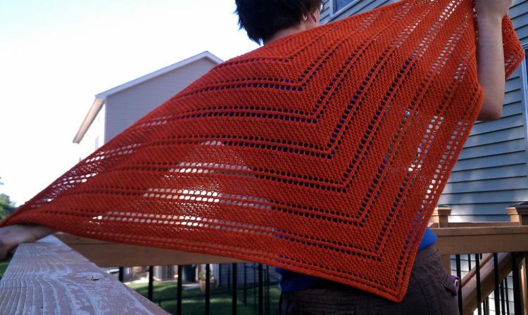 вязание косынки спицами для начинающих